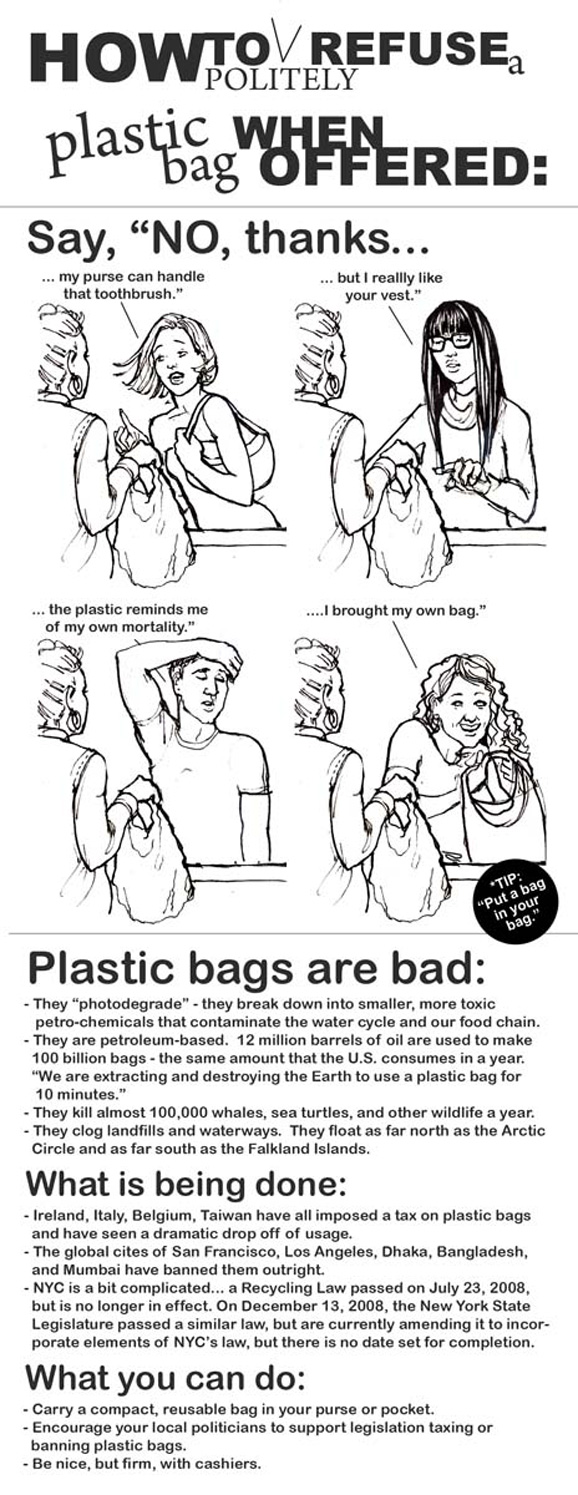 How to Politely Refuse a Plastic Bag