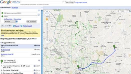 how to make a bike route on google maps