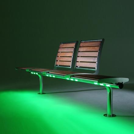 urban nights led bench