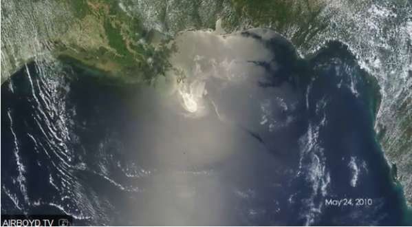Oil Spill image from NASA