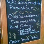 thanksgiving organic