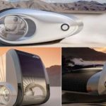 Eco Camping Meets Futuristic Transportation