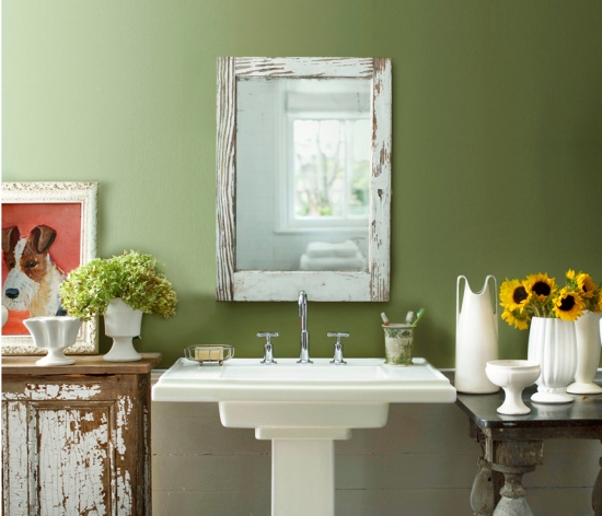 ideas to get a green bathroom